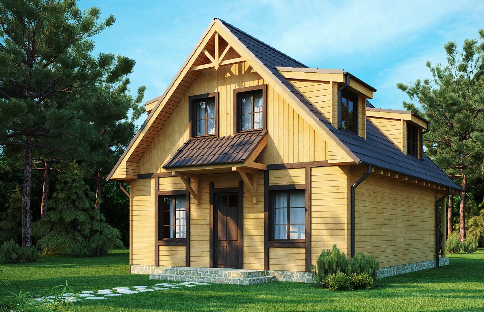 Каркасный дом с 2х скатной крышей